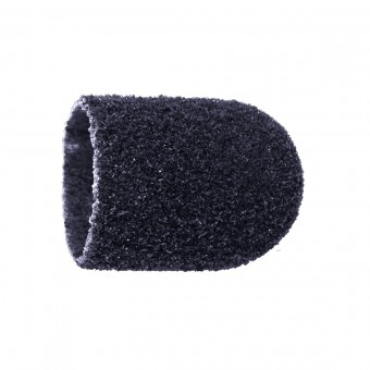 Vienkartiniai pedikiūro antgaliai, korundas-juodas, grubus 13 mm, 10 vnt.